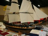 Military Scale Boat<br>First<br>GARY BUSSELL<br>British Frigate HMS Surprise<br>MUNCIE,IN USA